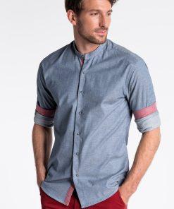 Tamsiai mėlyni marškiniai vyrams internetu pigiau K488 13291-5
