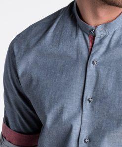 Tamsiai mėlyni vyriški marškiniai internetu pigiau K488 13291-6