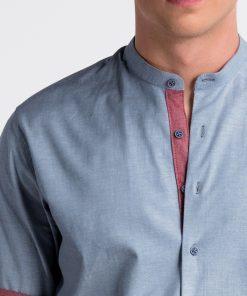 Mėlyni vyriški marškiniai internetu pigiau K488 13292-1