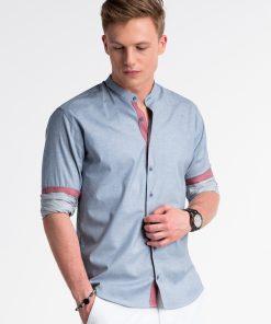Mėlyni marškiniai vyrams internetu pigiau K488 13292-4