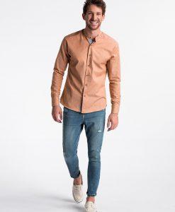 Rudi vyriški marškiniai internetu pigiau K488 13293-4
