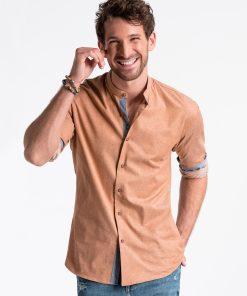 Rudi marškiniai vyrams internetu pigiau K488 13293-6