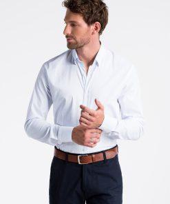 Balti marškiniai vyrams internetu K496 13297-2