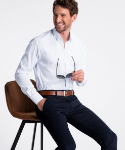Balti vyriški marškiniai internetu K496 13297-5