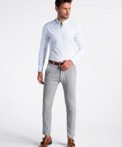 Balti vyriški marškiniai internetu K497 13299-4