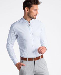 Balti marškiniai vyrams internetu K497 13299-5