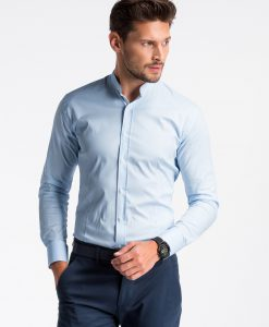 Šviesiai mėlyni marškiniai vyrams internetu K497 13300-2