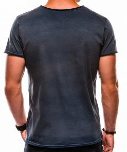 Marskineliai vyrams internetu pigiauS1049 13319Tamsiai mėlyni vienspalviai vyriški marškinėliai internetu pigiauS1049 13319-2