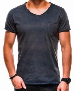 Tamsiai mėlyni vienspalviai vyriški marškinėliai internetu pigiauS1049 13319Tamsiai mėlyni vienspalviai vyriški marškinėliai internetu pigiauS1049 13319-3