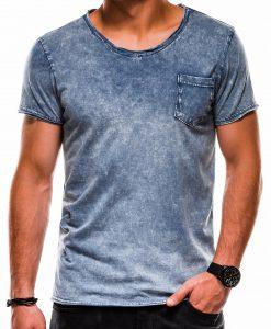 Tamsiai mėlyni vyriški marškinėliai internetu pigiau S1050 13321-1