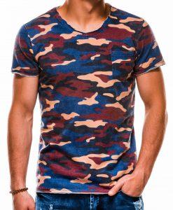 Mėlyni kamufliažiniai vyriški marškinėliai internetu pigiau S1050 13322-1
