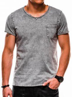 Pilki vyriški marškinėliai internetu pigiau S1050 13323-2