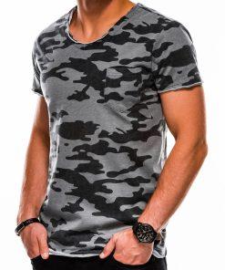 Pilki kamufliažiniai vyriški marškinėliai internetu pigiau S1050 13324-3