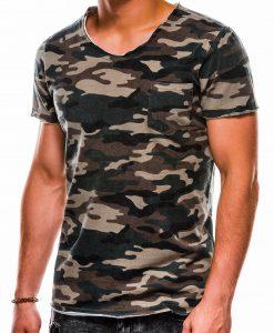 Žali kamufliažiniai vyriški marškinėliai internetu pigiau S1050 13325-2
