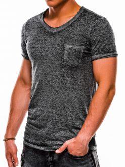 Pilki vienspalviai vyriški marškinėliai akcija S1051 13331-3