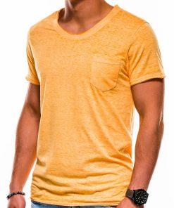 Geltoni vienspalviai vyriški marškinėliai internetu pigiau S1051 13334-2