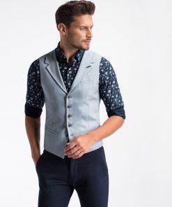 Šviesiai mėlyna kostiuminė vyriška liemenė internetu pigiau V46 13339-1