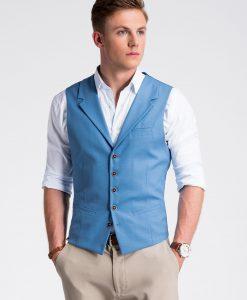 Tamsiai mėlyna kostiuminė vyriška liemenė internetu pigiau V46 13340-3