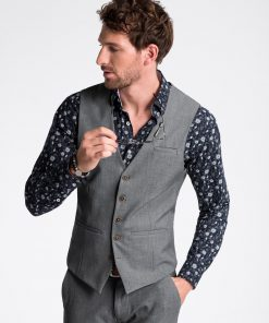 Pilka kostiuminė liemenė vyrams internetu pigiau V47 13342-1