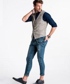 Pilka languota vyriska kostiumine liemene internetu pigiau V51 13362-2
