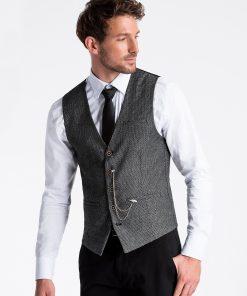 Tamsiai pilka kostiuminė liemenė vyrams internetu pigiau V52 13365-2