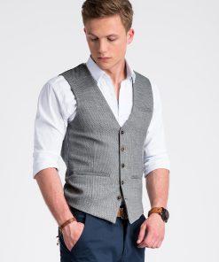 Pilka kostiuminė liemenė vyrams internetu pigiau V52 13366-1