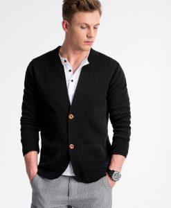 Juodas vyriškas megztinis internetu pigiau E168 13384-5