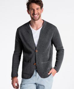 Pilkas vyriškas megztinis internetu pigiau E168 13385-3