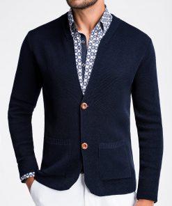 Elegantiskas tamsiai melynas vyriskas megztinis vyrams internetu pigiau E168 13386-1