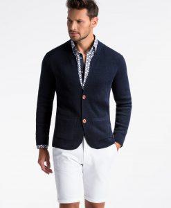 Tamsiai mėlynas vyriškas megztinis vyrams internetu pigiau E168 13386-5