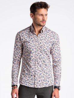 Smėlio gėlėti marškiniai vyrams internetu pigiau K501 13387-1