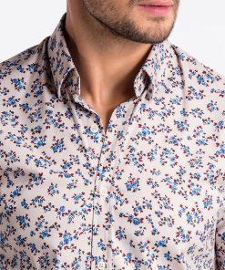 Smėlio gėlėti vyriški marškiniai internetu pigiau K501 13387-6