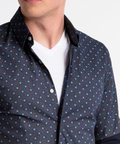 Marginti vyriški marškiniai internetu pigiau K494 13402-2