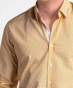 Oranžiniai vyriški marškiniai ilgomis rankovėmis internetu pigiau K467 13441-4
