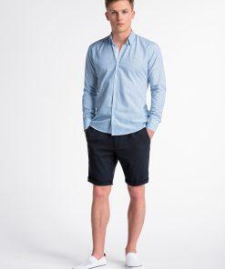 Mėlyni/žalii vyriški marškiniai ilgomis rankovėmis internetu pigiau K467 13442