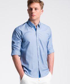 Mėlyni vyriški marškiniai internetu pigiau K472 13459-1