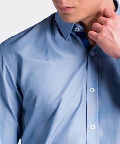 Mėlyni marškiniai vyrams internetu pigiau K472 13459-4