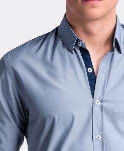 Tamsiai mėlyni marškiniai vyrams internetu pigiau K472 13462-1