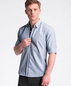 Tamsiai mėlyni vyriški marškiniai internetu pigiau K472 13462-2