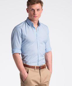 Šviesiai mėlyni vyriški marškiniai internetu pigiau K472 13463-1