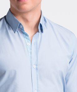 Šviesiai mėlyni marškiniai vyrams internetu pigiau K472 13463-4
