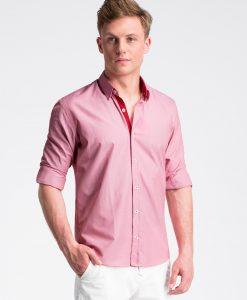 Raudoni vyriški marškiniai internetu pigiau K472 13465-1