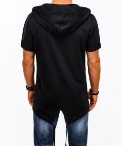 Stilingas juodas prailgintas vyriskas dzemperis vyrams su kapisonu internetu pigiau B960 13508-1