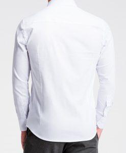 Balti vyriški marškiniai internetu K504 13511-1