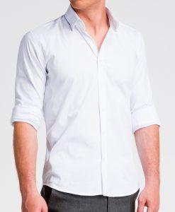 Balti marškiniai vyrams internetu K504 13511-5