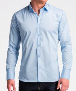 Šviesiai mėlyni marškiniai vyrams internetu K504 13513-3