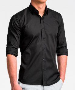 Juodi marškiniai vyrams internetu K504 13514-4