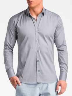 Pilki marškiniai vyrams internetu K504 13515-3