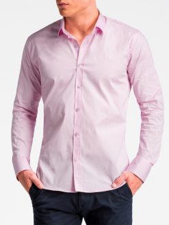 Rožiniai marškiniai vyrams internetu K504 13516-3