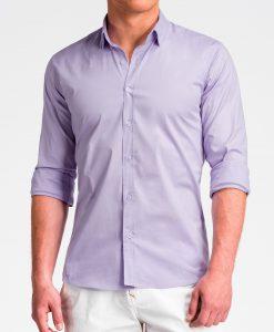 Violetiniai marškiniai vyrams internetu K504 13518-5